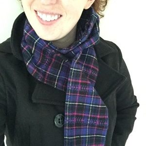 Plaid Scarf - Purple and Perfect for Fall!